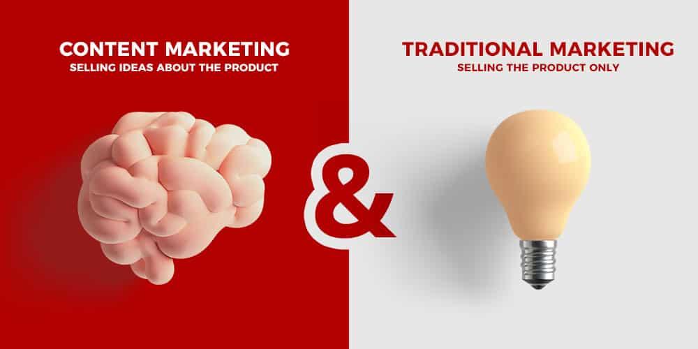 Content Marketing vs Traditional Marketing